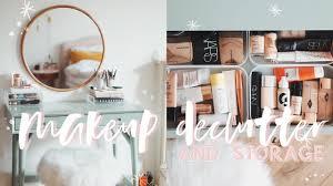 huge makeup declutter my beauty setup kate la vie