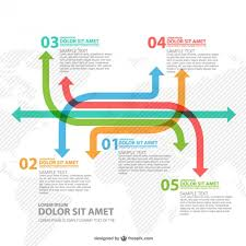 Worldwide Arrows Infographic Vector Free Download