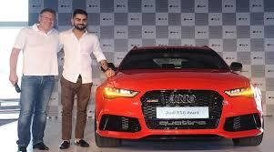 new car launches audiVirak Kohli launches Audi RS6 Avant at Rs 135 crore  The Indian