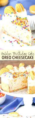 Golden Birthday Cake Oreo Crumbs Mirakome