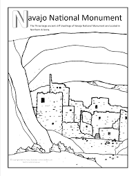 Navajo National Monument Coloring Page At