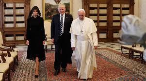 Αποτέλεσμα εικόνας για Ο Τραμπ στον Πάπα για την Πανθρησκεία