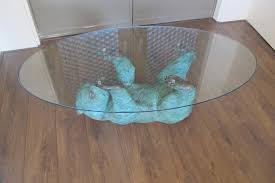 Bear Coffee Table Vintage Bronze Bear Cub Sculpture Coffee Table For Sale At Pamono