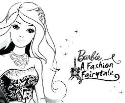 Barbie Colouring Pages Fashion Fairytale Dresses Coloring In A Color