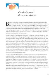 conclusions and recommendations adapting to the impacts of  page 219