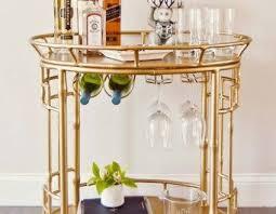 bamboo bar cart. Gold Bamboo Bar Cart Home And Furniture Inside Ideas 12