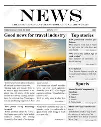 Microsoft Word Newspaper Template Microsoft Word Newspaper Template Template Business