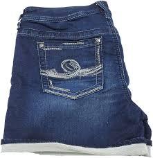Vigold Jeans Size Chart Seven7 Womens Knit Denim Roll Cuff Shorts Barret Blue