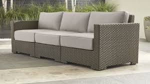 crate barrel outdoor furniture. crate barrel ventura umber 3piece sofa sectional with sunbrella cushions silver and outdoor furniture