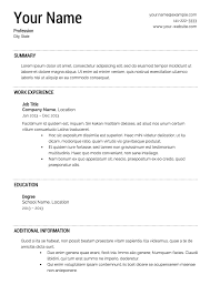 Free Resumes Templates Best Free Resume Templates Download From Super Resume
