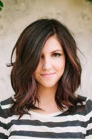 layered um wavy hairstyle for thick hair
