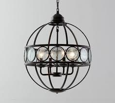 gallery of luna black orb crystal chandelier metal round sphere swag plug in 4 fancy astonishing 6