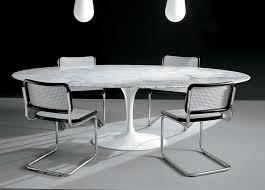 alivar saarinen tulip oval dining table