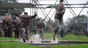 us marines tackle the bottom field at mando centre royal marines