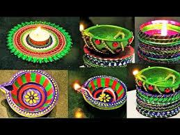 diy diwali room decor diya stand from waste cd diy diya from