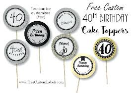 Birthday Cupcake Toppers Template 1st Topper Cake Jaxosco