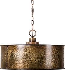 uttermost uttermost wolcott 3 light golden pendant