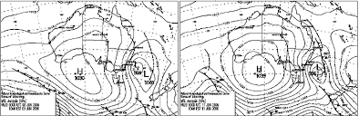 Synoptic Charts Published By The Bureau Of Meteorology For