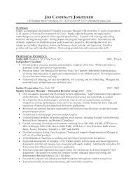 Qa Manager Resume Art Galleries In Quality Assurance Manager Resume