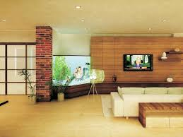 Zen Living Room Design Lovely Fish Tank In Living Room And Best Wood Floor Design