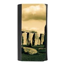 Stonehenge Designs Cards Stonehenge Sunset Womens Patterned Leather Buckle Trifold