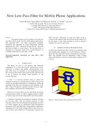 Microwave Filter Design Software Free Pdf New Low Pass Filter For Mobile Phone Applications