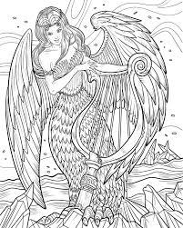 mythological book coloring book angel coloring page