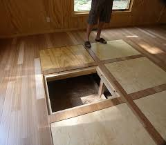 In floor storage for a tiny house...great idea!