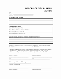 Free Printable Employee Disciplinary Forms