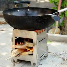 2016 New Foldable Outdoor Camping Wood Stove With Carry Case Alcohol Cooking Fuel Euipment-in Stoves from Sports