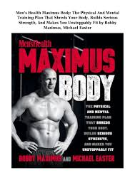 Bodybuilding Workout Chart For Men Pdf Pdf Epub Mens Health Maximus Body The Physical And Mental