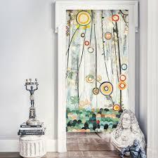 Freies Verschiffen Leinengemisch Floral Taste Rustikalen Tür Vorhang