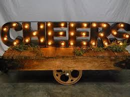 used industrial furniture. Our Industrial Furniture Cart Can Be Used As A Coffee Table For One Of Lounge Areas Or Base CHEERS Sign. It Is Rustic To Say The Least