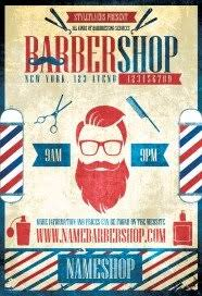 barber flyer barber flyers psd templates facebook covers styleflyers