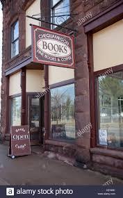Entrance to the historic Chequamegon Bookstore home of fine books