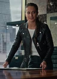 tomb raider lara croft black biker jacket