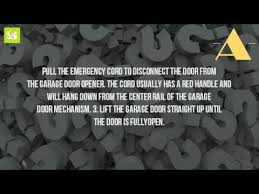 how to manually open a garage doorHow Do You Open A Garage Door Without Power  YouTube