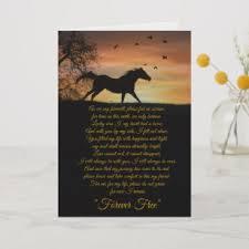 horse sympathy card loss of horse spiritual poem card