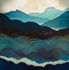 Space Frog Design Indigo Mountains