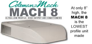 coleman mach mach 8 ultra low profile ac units for rvs airxcel mach 8 banner