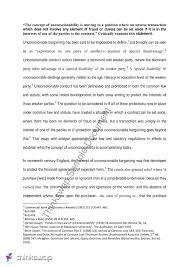 advanced contract essay on unconscionability llaw advanced advanced contract essay on unconscionability