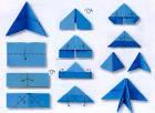 Оригами из треугольных модулей фото