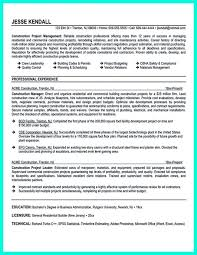 Sample Resume Construction Project Manager Construction Project Manager Resume For Experienced One Must