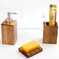 Wooden Bathroom Accessories Set Wooden Bathroom Accessories Set Bathrooms Designs