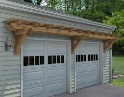 garage door arborRough Cut Cedar Eyebrow Wall Mount Pergolas  Pergolas by Style