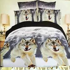 whole hot 3d animal bedding set king queen twin size 3 horse wolf panda duvet cover bed sheet pillow cases boys bedclothes linen dress shirts men bed