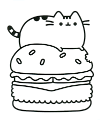 Coloring Pages Pusheen For Kids