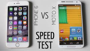 iPhone 6 vs Moto X (2nd Gen) Speed Test - YouTube