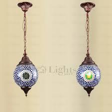 glass ball lighting. turkish style decorative blue glass ball shape mini pendant lighting