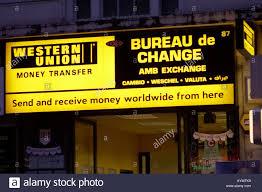Change Alamy Union Londres D'argent À 9821304 Photo D'images Banque De - Uk Western Stock Bureau Transfert
